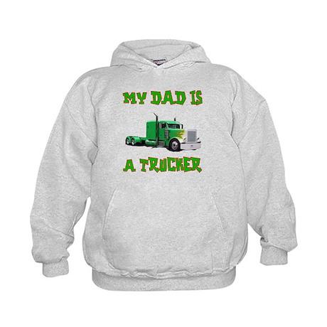 My Dad Is A Trucker Kids Hoodie