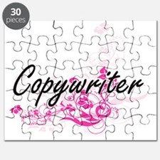 Copywriter Artistic Job Design with Flowers Puzzle