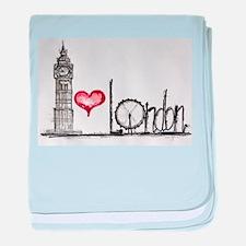 I love London baby blanket
