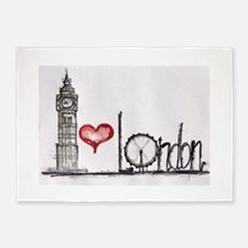 I love London 5'x7'Area Rug