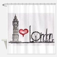 I love London Shower Curtain