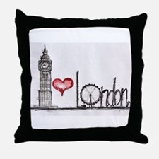 I love London Throw Pillow