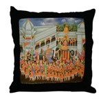 Mughal Procession Throw Pillow