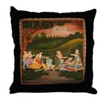 Floating Candles on the River Throw Pillow