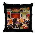 Mughal Harem Throw Pillow