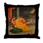 In Union With Krishna Throw Pillow