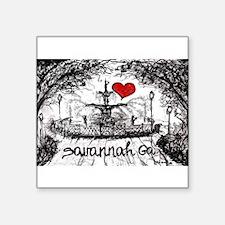 I love savannah Ga Sticker