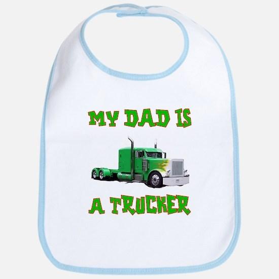 My Dad Is A Trucker Bib