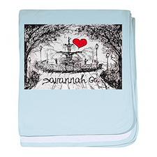 I love savannah Ga baby blanket