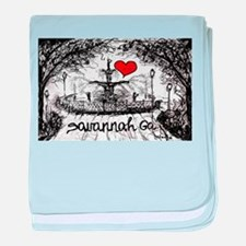 I love savannah Ga baby blanket