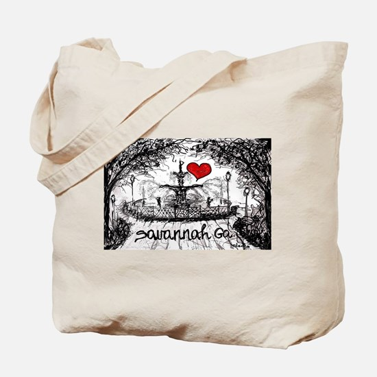 I love savannah Ga Tote Bag