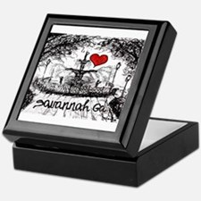 I love savannah Ga Keepsake Box
