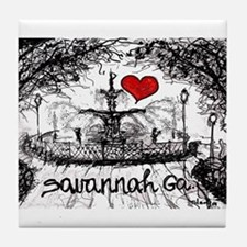 I love savannah Ga Tile Coaster