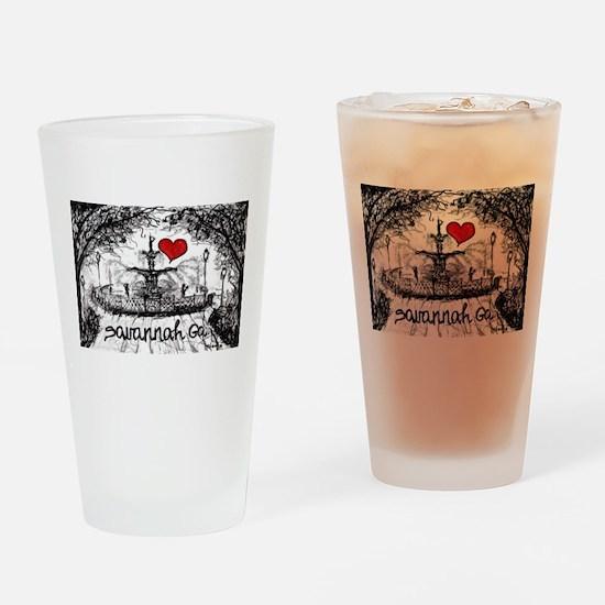 I love savannah Ga Drinking Glass