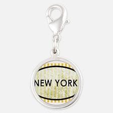 New York Stone Yellow Pin Stripes Charms
