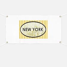 New York Yellow Pin Stripes Banner