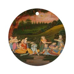 Floating Candles on the River Ornament (Round)