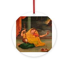 In Union With Krishna Ornament (Round)