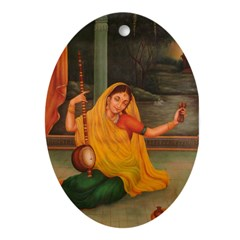 In Union With Krishna Oval Ornament
