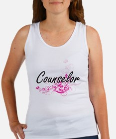 Counselor Artistic Job Design with Flower Tank Top