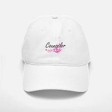 Counselor Artistic Job Design with Flowers Baseball Baseball Cap
