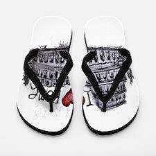 I love Rome Flip Flops