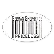 German Shepherd Dog Owner Lov Oval Decal