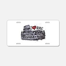 I love Rome Aluminum License Plate