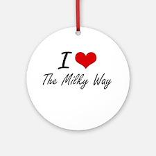 I love The Milky Way Round Ornament