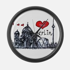 I love Berlin Large Wall Clock