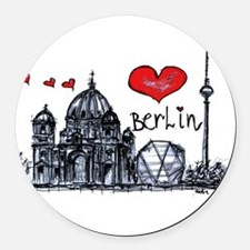 I love Berlin Round Car Magnet
