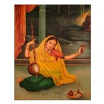 In Union With Krishna Unframed Print
