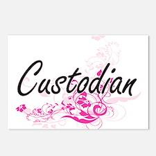 Custodian Artistic Job De Postcards (Package of 8)