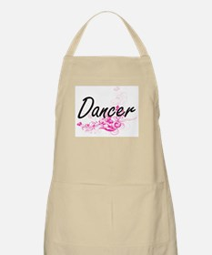 Dancer Artistic Job Design with Flowers Apron