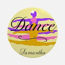 Yellow Dance Round Ornament