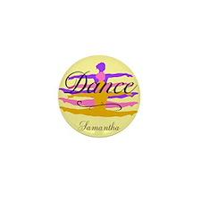 Yellow Dance Mini Button (100 pack)