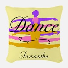 Yellow Dance Woven Throw Pillow