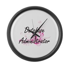 Database Administrator Artistic J Large Wall Clock