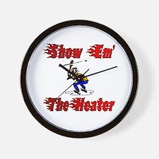 Show em the heater Wall Clock