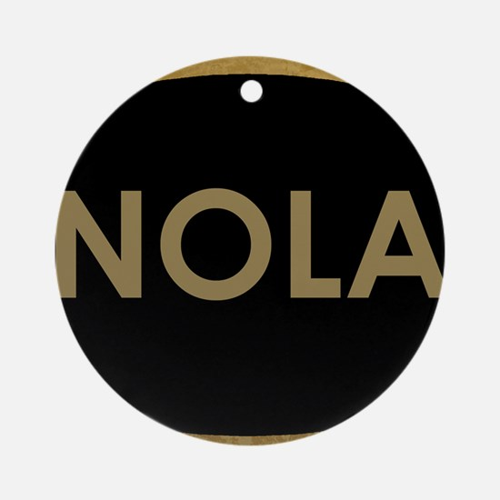 NOLA BLACK AND GOLD Round Ornament