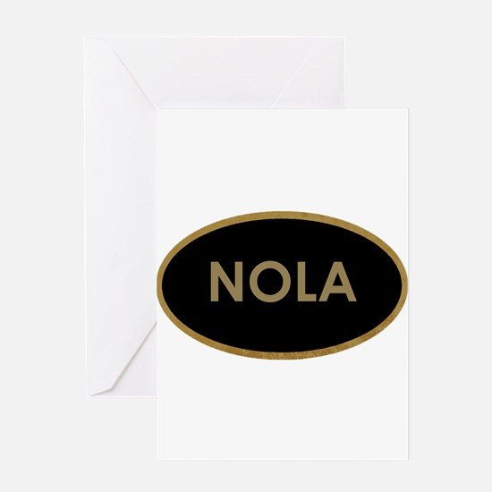 NOLA BLACK AND GOLD Greeting Cards
