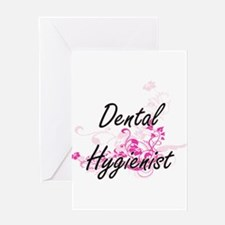 Dental Hygienist Artistic Job Desig Greeting Cards