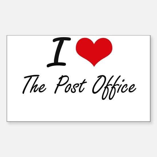 I love The Post Office Decal