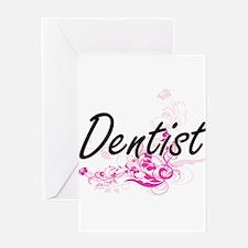 Dentist Artistic Job Design with Fl Greeting Cards