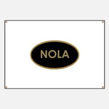 NOLA BLACK AND GOLD Banner