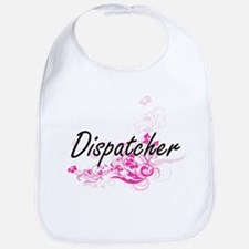 Dispatcher Artistic Job Design with Flowers Bib