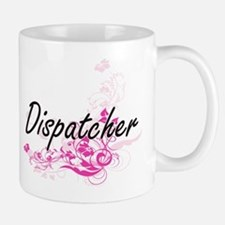Dispatcher Artistic Job Design with Flowers Mugs
