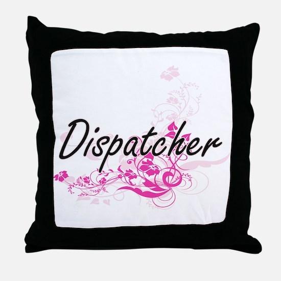 Dispatcher Artistic Job Design with F Throw Pillow