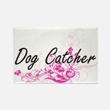 Dog Catcher Artistic Job Design with Flowe Magnets