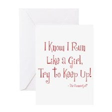 Run Like a Girl Greeting Card